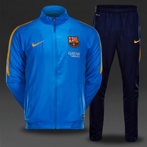 [해외][Order] 15-16 Barcelona Boys Rev Woven Tracksuit (Light Photo Blue/University Gold) - KIDS