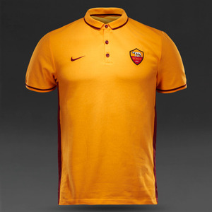 [해외][Order] 15-16 AS Roma Authentic League Polo - Kumquat/Team Red