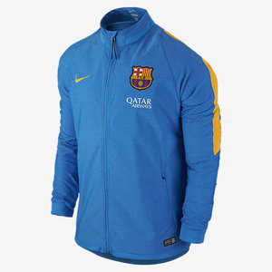 [해외][Order] 15-16 Barcelona Revolution Sideline Stretch Woven Jacket - Light Photo Blue/Htr/University Gold