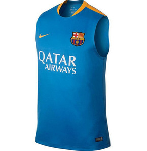 [해외][Order] 15-16 Barcelona Sleeveless Shirt - Blue
