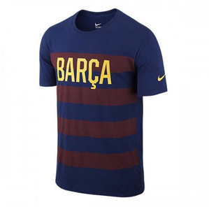 [해외][Order] 15-16 Barcelona Core Plus Match Tee - Loyal Blue