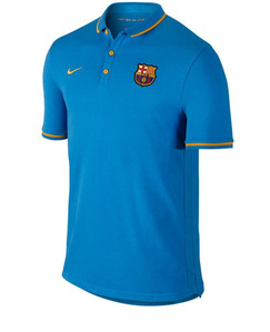 [해외][Order] 15-16 Barcelona Authentic Polo Shirt - Blue