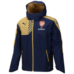 15-16 Arsenal Rain Jacket - Navy/Gold