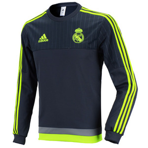 15-16 Real Madrid (RCM) Sweat Top (Grey)