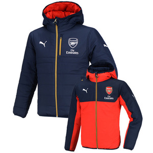[해외][Order] 15-16 Arsenal(AFC) Reeversiable Padded Jacket - Navy/Red