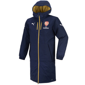 [해외][Order] 15-16 Arsenal(AFC) Long Bench Coat Jacket - Navy/Gold