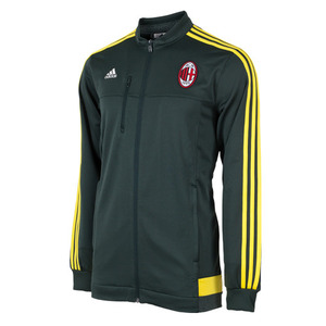 15-16 AC Milan Anthem Jacket - Deepest Green