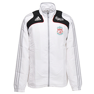 08-09 Liverpool Boys Presentation Jacket  (White) - KIDS