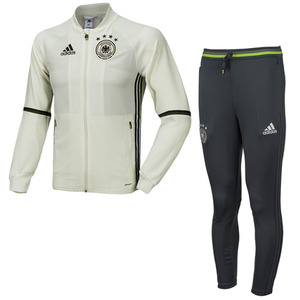 16-17 Germany (DFB) Training Suit - White/Solid Grey