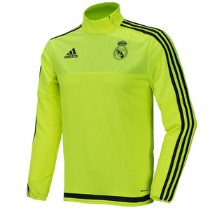 15-16 Real Madrid (RCM) Training Top - Light Green/Grey