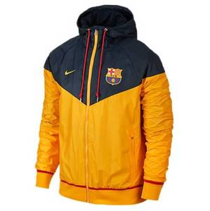 [해외][Order] 15-16 Barcelona Authentic WindRunner Jacket - Dark Obsidian/University Gold