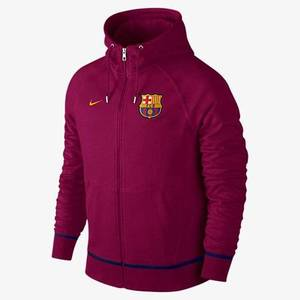 [해외][Order] 15-16 Barcelona Authentic AW77  Full Zip Hoody - Dynamic Berry/University Gold
