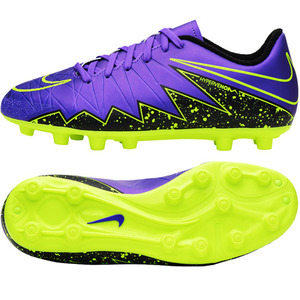 Junior HyperVenom Phelon II HG-E - Hyper Grape/Black/Volt - KIDS (550)