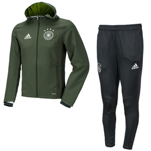 16-17 Germany (DFB) Presentation Suit - Base Green/Solid Grey