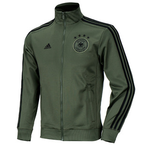 16-17 Germany (DFB) 3 Stripe Track Top - Base Green/Black