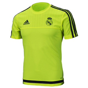 15-16 Real Madrid (RCM) Training Jersey - Light Green/Grey