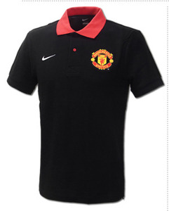 12-13 Manchester United Polo Shirts - Black