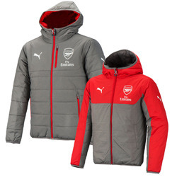 16-17 Arsenal Reversible Jacket - Grey