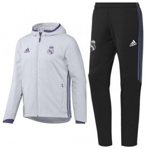[해외][Order] 16-17 Real Madrid (RCM) Presentation Suit - Crystal White/Black/Super Purple