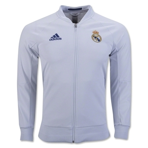 [해외][Order] 16-17 Real Madrid (RCM) Home Anthem Jacket - Crystal White/Raw Purple