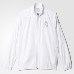 [해외][Order] 16-17 Real Madrid (RCM) Street Woven Jacket - White/Reflective