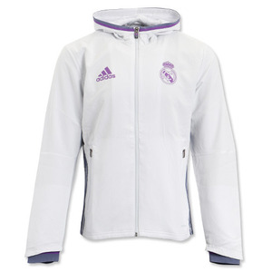 [해외][Order] 16-17 Real Madrid (RCM) Presentation Jacket - Crystal White/Super Purple