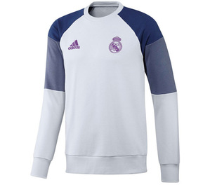 [해외][Order] 16-17 Real Madrid Training Sweat Top - Crystal White/Raw Purple