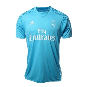 [해외][Order] 16-17 Real Madrid Home GK Shirt - Bright Cyan/Crystal White