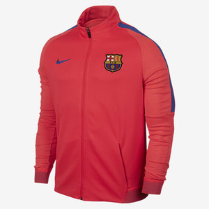 [해외][Order] 16-17 Barcelona Dry Strike Track Jacket (Bright Crimson/Game Royal)