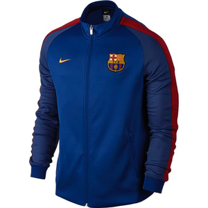 [해외][Order] 16-17 Barcelona Boys Authentic Track Jacket (Sport Royal/Gym Red/University Gold) - KIDS