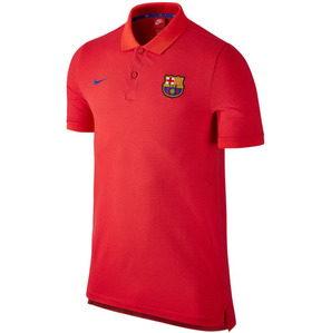 [해외][Order] 16-17 Barcelona Authentic Slim Polo (Light Crimson/Prime Red/Game Royal)