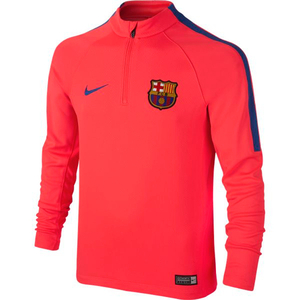 [해외][Order] 16-17 Barcelona Boys Squad Drill Top (Bright Crimson/Game Royal) - KIDS