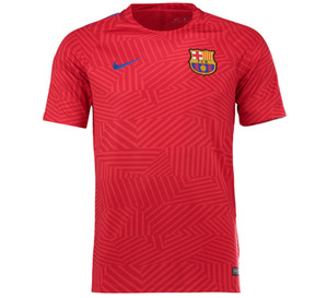 [해외][Order] 16-17 Barcelona Boys Dry Squad Top (University Red/Sport Royal)
