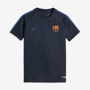 [해외][Order] 16-17 Barcelona Boys Dry Squad Top (Obsidian/Game Royal) - KIDS