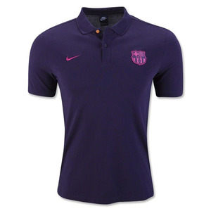 [해외][Order] 16-17 Barcelona Core Polo - Purple Dynasty/Vivid Pink
