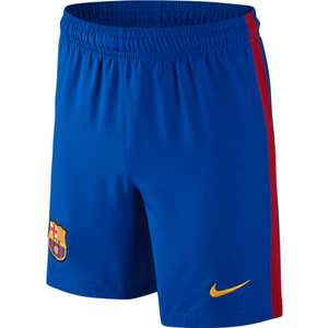 [해외][Order] 16-17 Barcelona  Boys Home Stadium Short (Sport Royal/University Gold)