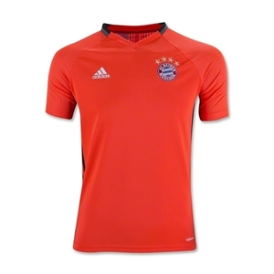 [해외][Order] 16-17 Bayern Munchen  Boys Training  Jersey(Solar Red) - KIDS