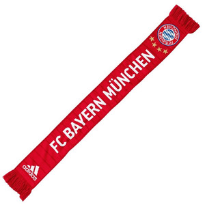 [해외][Order] 16-17 Bayern Munich Home Scarf - True Red/White