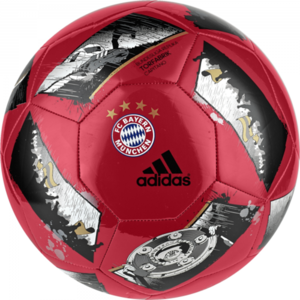 [해외][Order] 16-17 Bayern Munich Ball - Capitano - True Red/Silver Metallic/Black