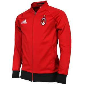 16-17 AC Milan Anthem Jacket - Victory Red/Black