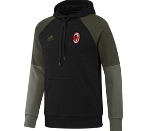[해외][Order] 16-17 AC Milan Hood Sweat Top - Black/Night Cargo/Victory Red