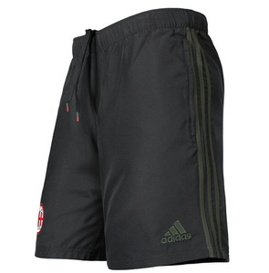 [해외][Order] 16-17 AC Milan Woven Shorts - Black/Night Cargo/Victory Red
