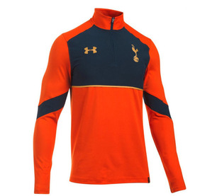 [해외][Order] 16-17 Tottenham Hotspur 1/4 Zip Top - Dark Orange