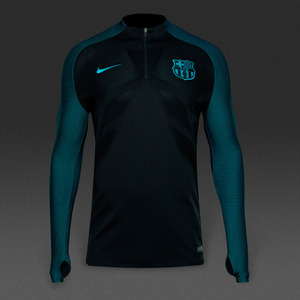 [해외][Order] 16-17 Barcelona Strike Drill Top - Black/Energy/Energy