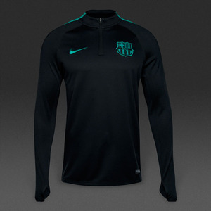[해외][Order] 16-17 Barcelona Drill Top Squad - Black/Energy/Energy