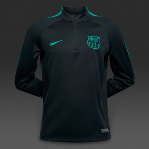 [해외][Order] 16-17 Barcelona Boys Drill Top Squad(Black/Energy/Energy) - KIDS