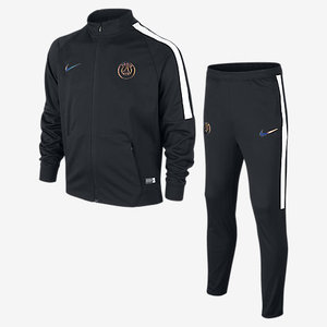 [해외][Order] 16-17 Paris Saint-Germain  Boys Dry Squad Track Suit (Black/Black/White) - KIDS