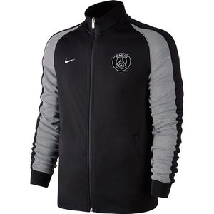 [해외][Order] 16-17 Paris Saint-Germain  NSW N98 Track Jacket Authentic - Black/Metallic Silver