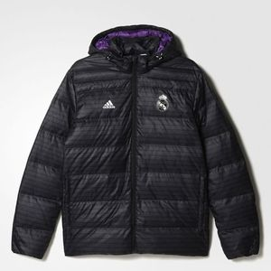[해외][Order] 16-17 Real Madrid Down Jacket - Black/Crystal White
