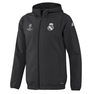 [해외][Order] 16-17 Real Madrid UCL(UEFA Champions League) Presentation Jacket - Carbon/Black